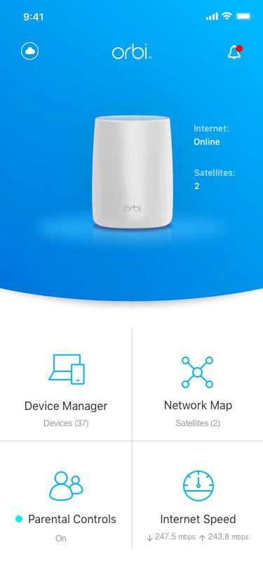 NETGEAR Orbi App | Apps | Discover | Home | NETGEAR