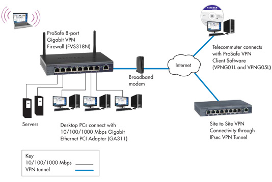 FVS318N Network Diagram