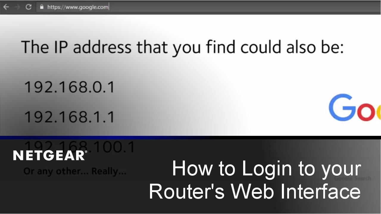 How to Login to your NETGEAR Router's Web Interface | PC and Mac