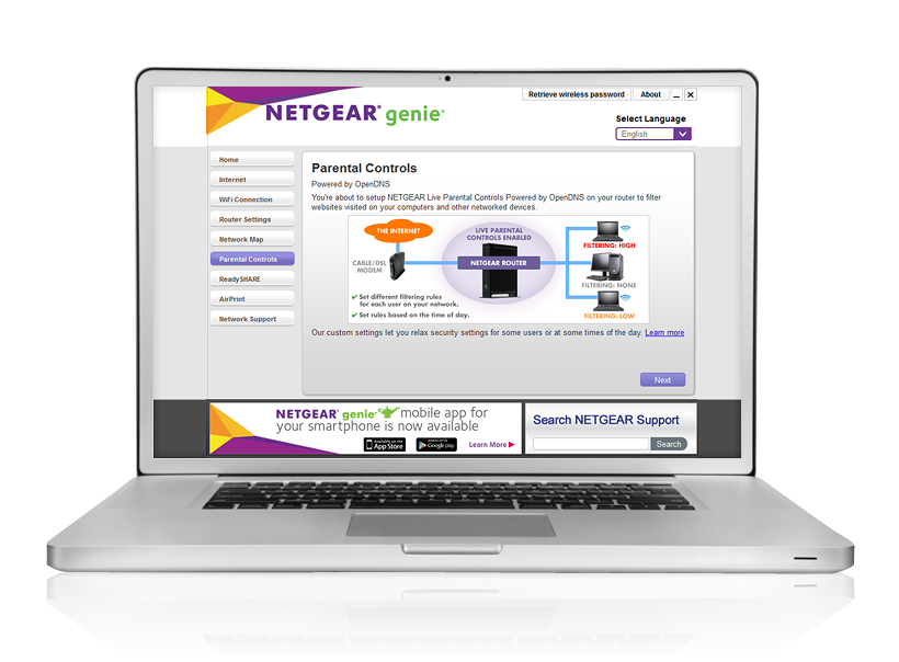 NETGEAR Genie Parental Controls
