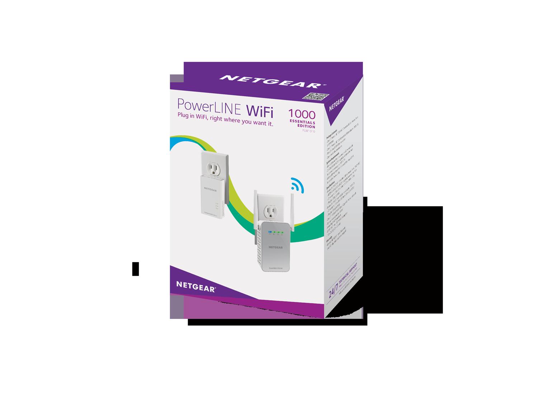 NETGEAR PowerLINE 1000 Mbps WiFi 1 Gigabit Port Essentials Edition 802.11ac