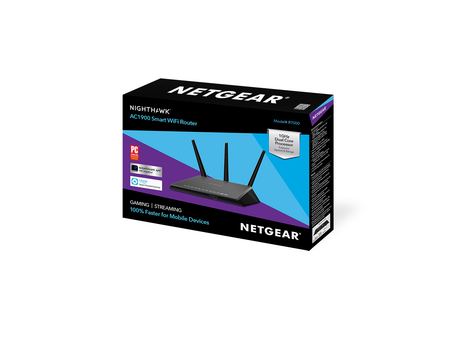 Nighthawk | Dual Band WiFi Router | AC1900 (R7000) | NETGEAR