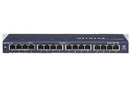 Lifetime Warranty GS116 NETGEAR ProSAFE 16-Port Gigabit Ethernet Switch
