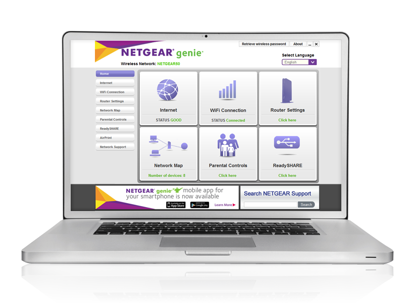 xwnb5201 powerline networking home netgear Netgear Genie MSI Network Genie
