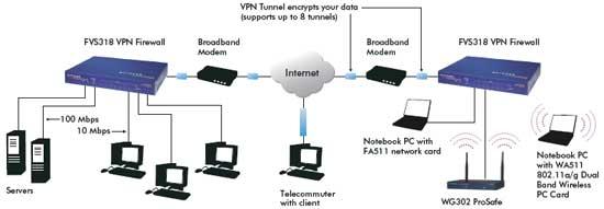 FVS318-300 product network diagram