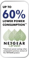 Netgear Green - 60% Less