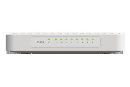 NETGEAR GS608 8-Port 10//100//1000 Gigabit Desktop Switch
