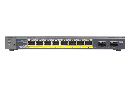 Netgear ProSAFE GS110TPv2 8 Port PoE Smart Switch GS110TP-200NAS