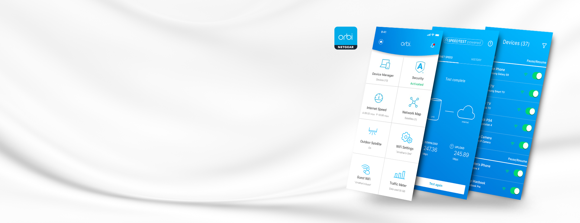 Orbi App with Armor