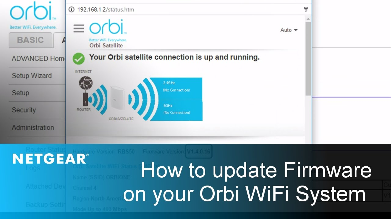 Orbi Rbk50 Wifi System Netgear Support