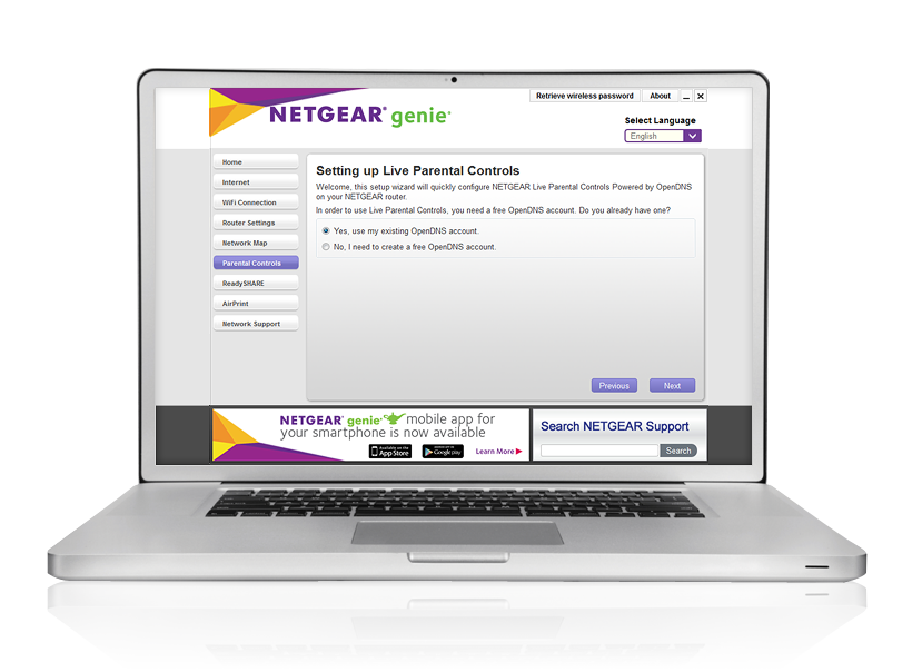 NETGEAR Genie Live Parental Controls